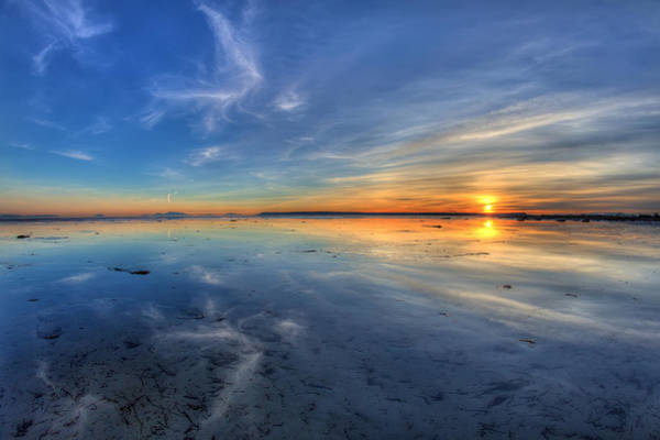 Photograph - Sky Reflection In Boundary Bay by Pierre Leclerc Photography