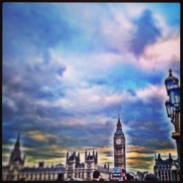 London Skyline Wall Art - Photograph - #sky #skyline #westminster #bigben by Sharyn Omalley