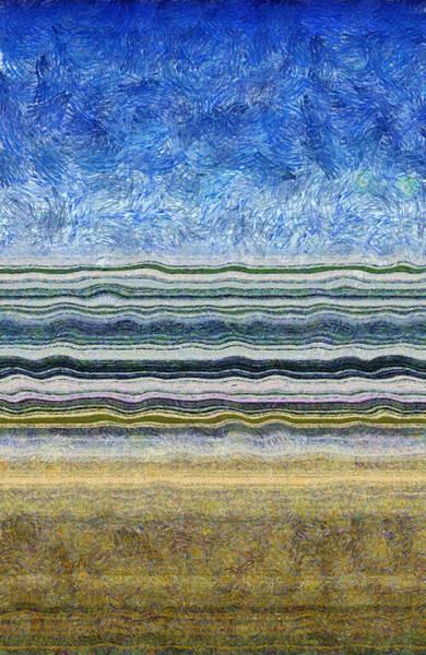 Design Digital Art - Sky Water Earth 2 by Michelle Calkins
