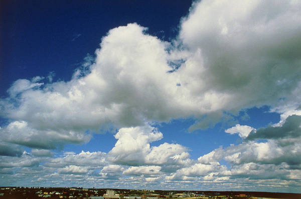 Cloud Type Wall Art - Photograph - Sky With Fair-weather Cumulus Clouds by Pekka Parviainen/science Photo Library
