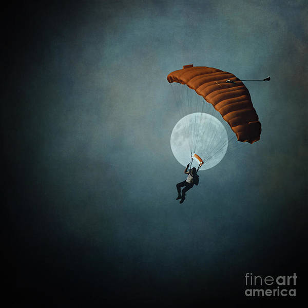 Skydiver Photograph - Skydiver's Moon by Trish Mistric
