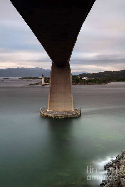 Photograph - Skye Bridge At Sunset by Maria Gaellman