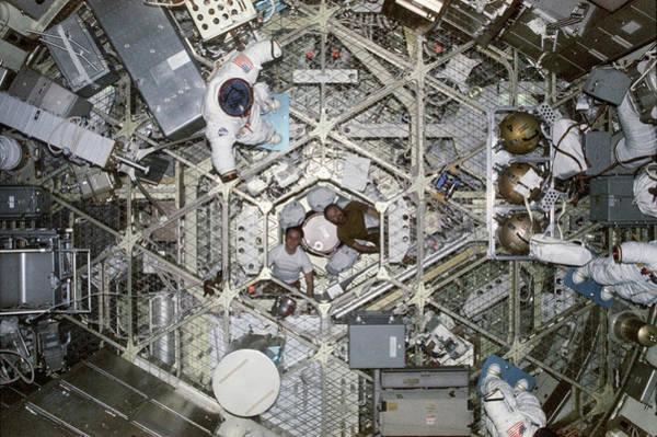 January Photograph - Skylab 4 Crew by Nasa
