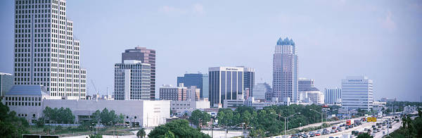 Faint Wall Art - Photograph - Skyline & Interstate 4 Orlando Fl Usa by Panoramic Images