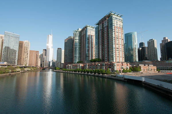 Alan Photograph - Skyline And Chicago River With Trump by Alan Klehr