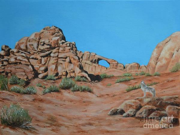Mary Rogers Painting - Skyline Arch by Mary Rogers