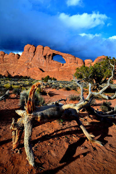 Photograph - Skyline Arch Storm by Ray Mathis