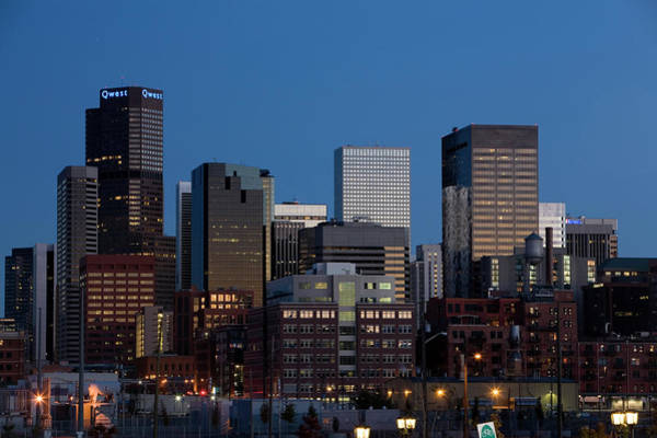 Mile High City Photograph - Skyline At Dusk, Denver, Colorado, Usa by Lisa Seaman