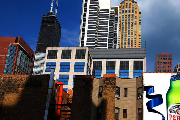 Skyline Building Blocks Art Print