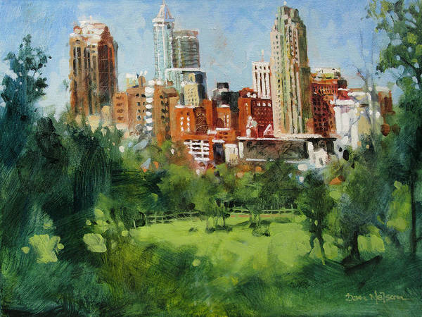 Wall Art - Painting - Skyline From Dix Hill by Dan Nelson