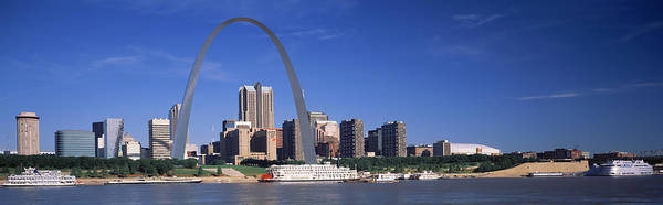 Wall Art - Photograph - Skyline Gateway Arch St Louis Mo Usa by Panoramic Images