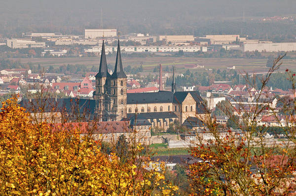 St Michaels Church Photograph - Skyline Of Bamberg, Germany by Michael Defreitas