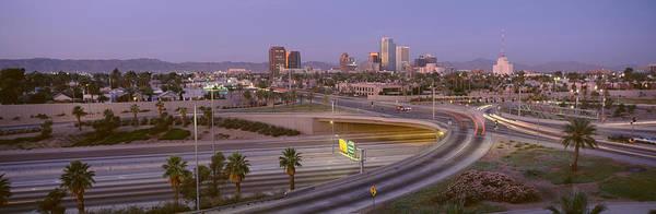 Merge Wall Art - Photograph - Skyline Phoenix Az Usa by Panoramic Images