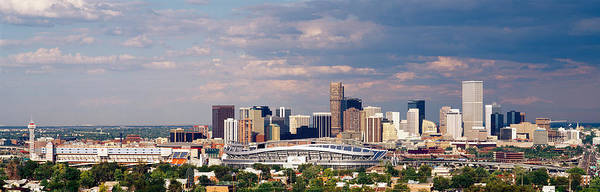 Mile High City Photograph - Skyline With Invesco Stadium, Denver by Panoramic Images