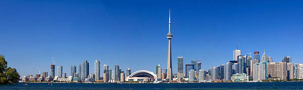 Cn Tower Photograph - Skylines In A City, Cn Tower, Toronto by Panoramic Images
