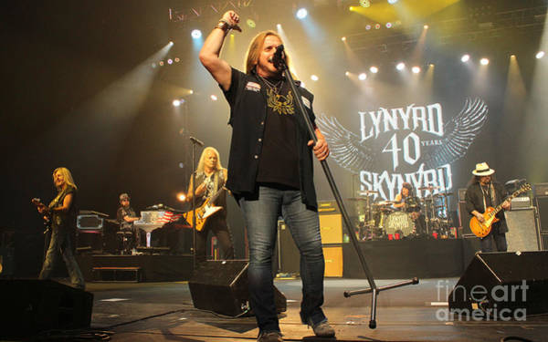 Rickey Medlocke Photograph - Skynyrd-group-7320 by Gary Gingrich Galleries