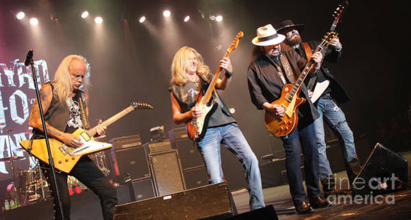 Rickey Medlocke Photograph - Skynyrd-group-7668 by Gary Gingrich Galleries