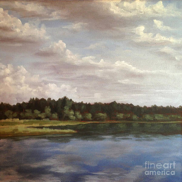 Painting - Sky's Mirror by Ric Nagualero
