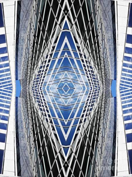 Midtown Manhattan Digital Art - Skyscraper Lines by Sarah Loft