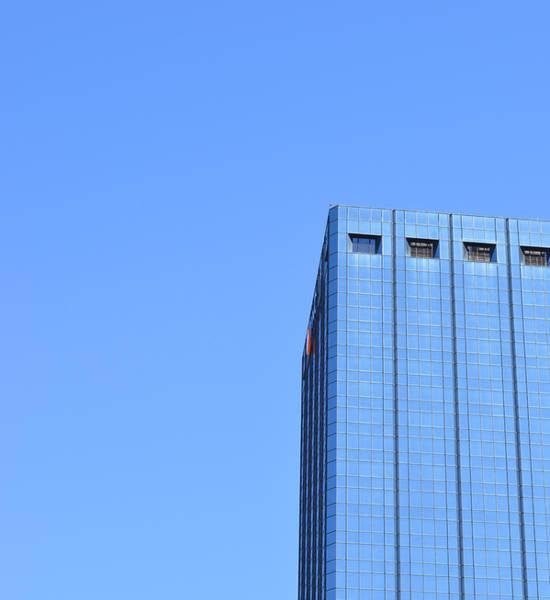 Wall Art - Photograph - Skyscraper Photography - Blue On Blue - By Sharon Cummings by Sharon Cummings