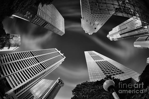 Fish Eye Lens Photograph - Skyscraper Swirl by Rod McLean