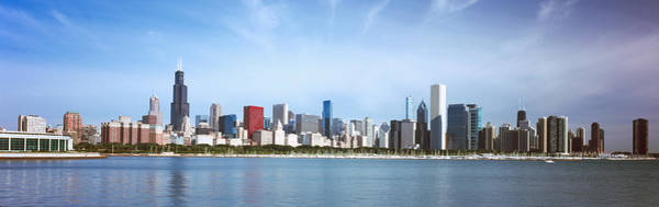 Skyscrapers At The Waterfront, Chicago Art Print