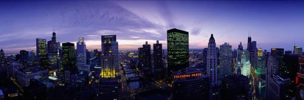 Skyscrapers, Chicago, Illinois, Usa Art Print