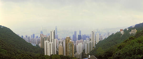 Housing Development Photograph - Skyscrapers In A City, Hong Kong, China by Panoramic Images