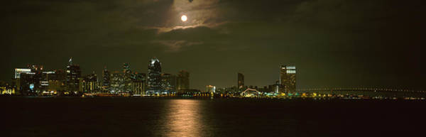 Coronado Photograph - Skyscrapers Lit Up At Night, Coronado by Panoramic Images