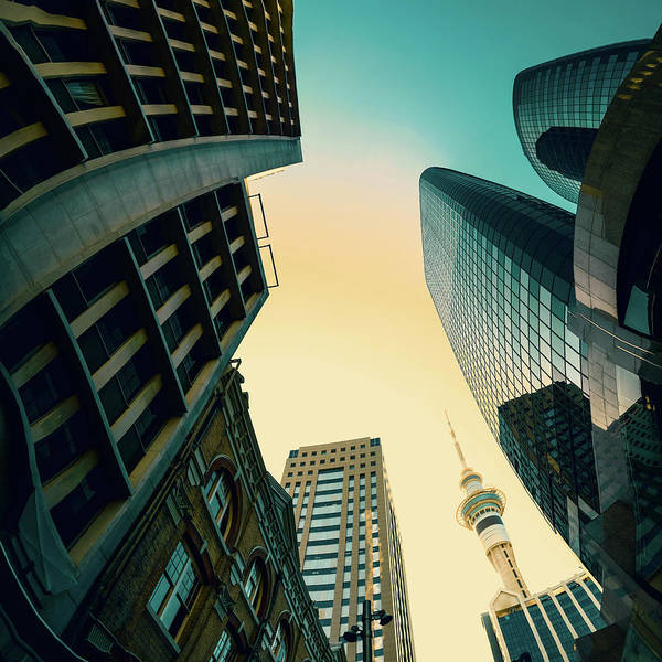 City Centre Photograph - Skyscrapers by Wladimir Bulgar/science Photo Library