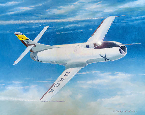 Painting - Skystreak by Douglas Castleman