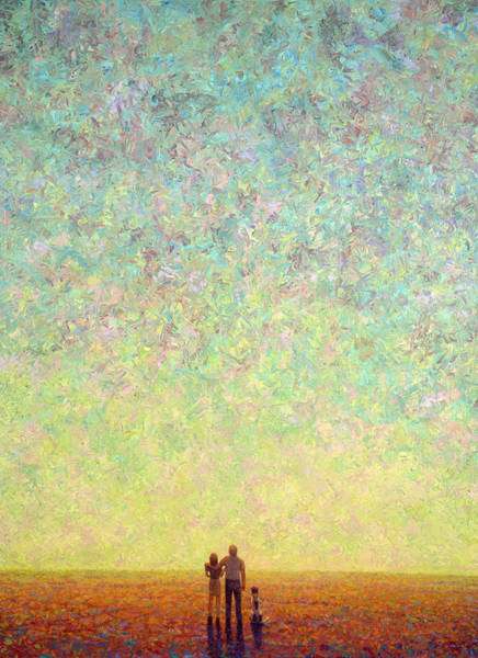 Wall Art - Painting - Skywatching In A Painting by James W Johnson