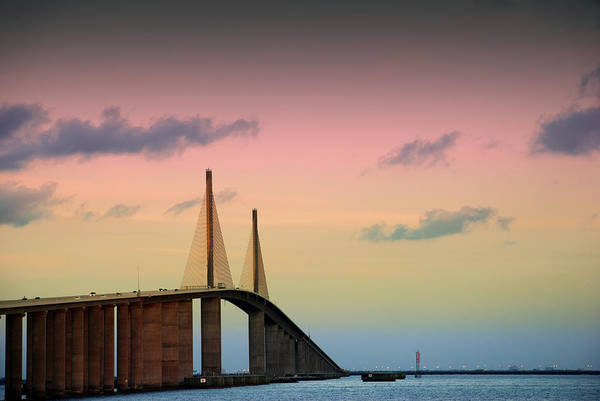Photograph - Skyway Sunset by Beverly Stapleton