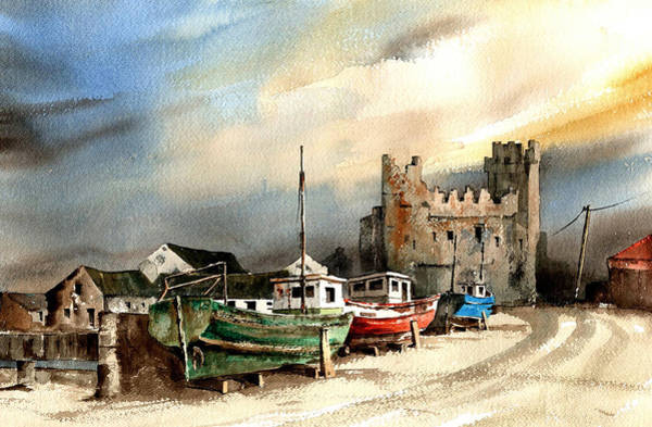 Painting - Wexford  Slade Castle by Val Byrne