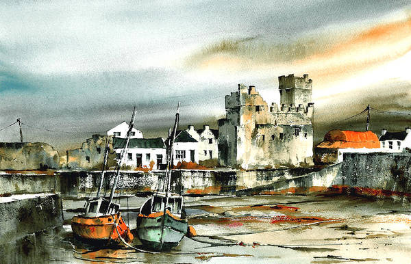 Painting - Slade Harbour Wexford by Val Byrne
