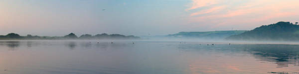 Photograph - Slapton Ley With Dawn Mists by Tony Mills