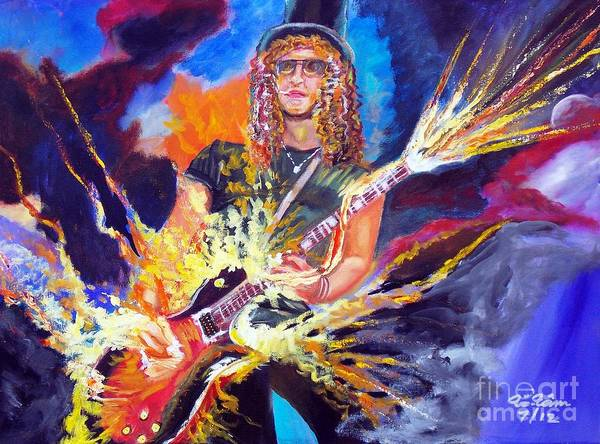 Guns And Roses Painting - Slash 1 by To-Tam Gerwe