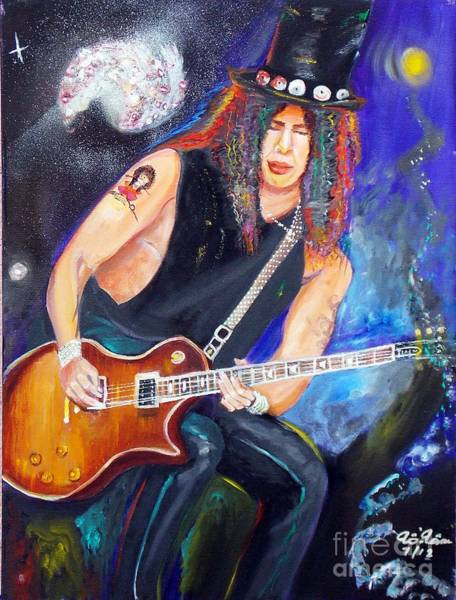 Guns And Roses Painting - Slash 2 by To-Tam Gerwe