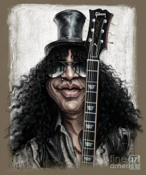Musician Wall Art - Digital Art - Slash by Andre Koekemoer