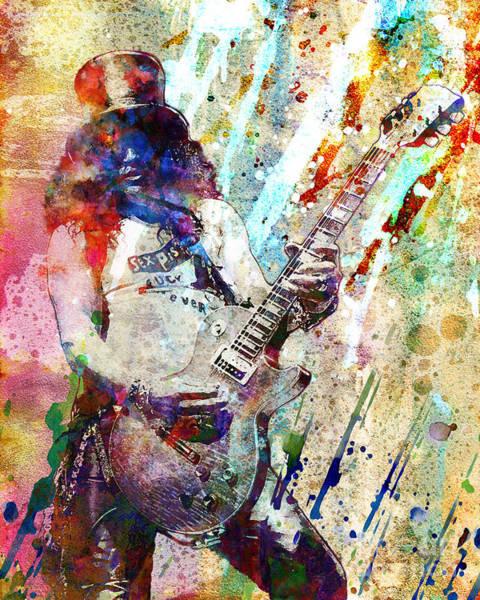 Velvet Revolver Wall Art - Painting - Slash Original  by Ryan Rock Artist
