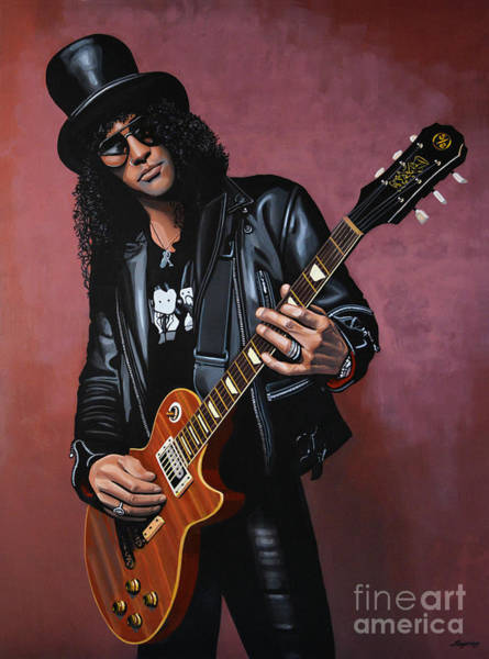 Hard Rock Wall Art - Painting - Slash by Paul Meijering