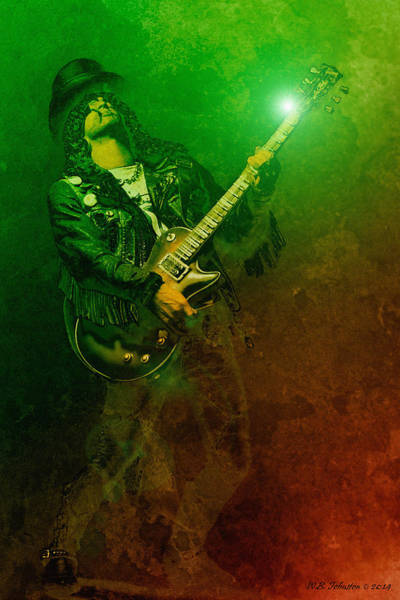 Guns And Roses Wall Art - Photograph - Slashed by WB Johnston