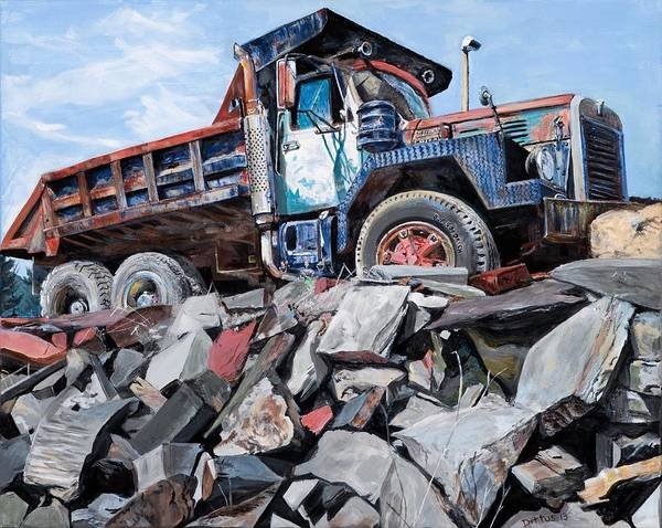 Wall Art - Painting - Slate Truck by Chrissey Dittus
