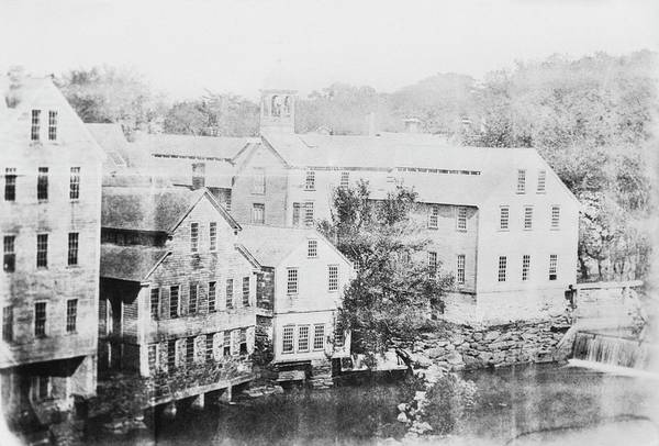Textile Mill Photograph - Slater Cotton Mill by Library Of Congress
