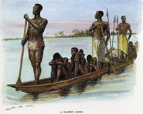 1880 Drawing - Slavery Africa, C1885 by Granger