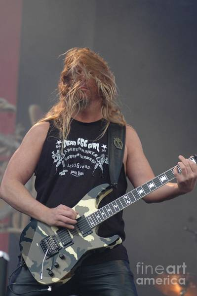 Photograph - Slayer- Jeff Hanneman by Jenny Potter