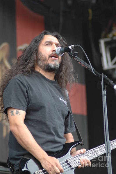 Photograph - Slayer- Tom Araya by Jenny Potter