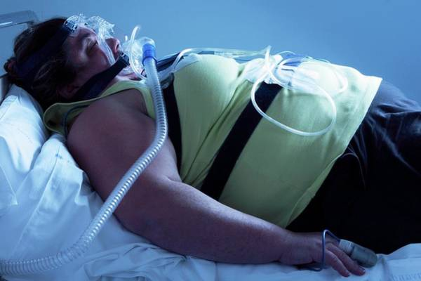 Sleep Disorder Photograph - Sleep Apnoea Treatment by Mauro Fermariello/science Photo Library