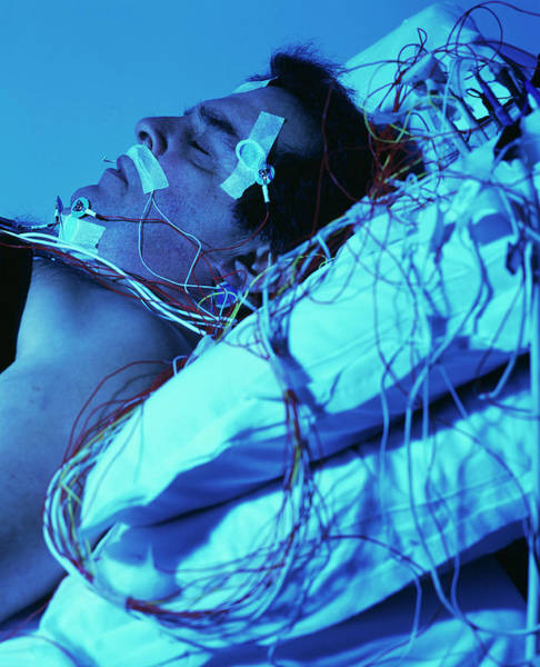 Sleep Disorder Photograph - Sleep Disorder Research by Mauro Fermariello/science Photo Library