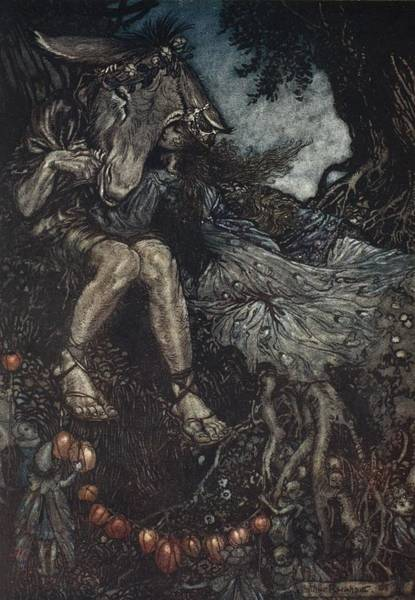 Woodland Drawing - Sleep Thou, And I Will Wind Thee by Arthur Rackham